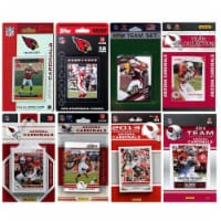 CandICollectables ARIZCARD814TS NFL Arizona Cardinals 8 Different Licensed Trading Card Team