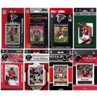 CandICollectables FALCONS814TS NFL Atlanta Falcons 8 Different Licensed Trading Card Team Set