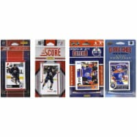 CandICollectables OILERS414TS NHL Edmonton Oilers 4 Different Licensed Trading Card Team Sets - 1