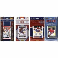 CandICollectables CANADIENS414TS NHL Montreal Canadiens 4 Different Licensed Trading Card Tea