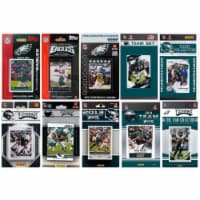 CandICollectables EAGLES1015TS NFL Philadelphia Eagles 10 Different Licensed Trading Card Tea