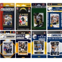 CandICollectables CHARGERS815TS NFL San Diego Chargers 8 Different Licensed Trading Card Team