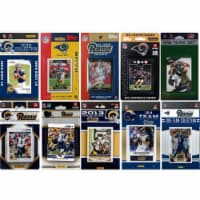 CandICollectables RAMS1015TS NFL St. Louis Rams 10 Different Licensed Trading Card Team Sets - 1