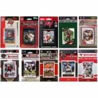 CandICollectables BUC1015TS NFL Tampa Bay Buccaneers 10 Different Licensed Trading Card Team