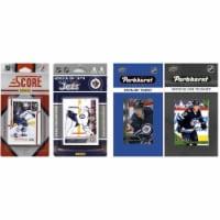 C & I Collectables WJETS417TS NHL Winnipeg Jets 4 Different Licensed Trading Card Team Sets - 1