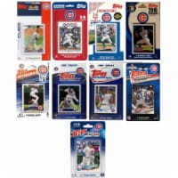C & I Collectables CUBS918TS 2018 MLB Chicago Cubs 9 Different Licensed Trading Card Team Set