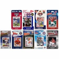 C & I Collectables NATS918TS 2018 MLB Washington Nationals 9 Different Licensed Trading Card - 1