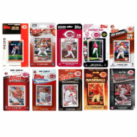 C & I Collectables REDS1018TS 2018 MLB Cincinnati Reds 10 Different Licensed Trading Card Tea