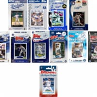 C&I Collectables DODGERS1119TS MLB Los Angeles Dodgers 11 Different Licensed Trading Card Tea - 1
