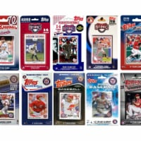 C&I Collectables NATS1019TS MLB Washington Nationals 10 Different Licensed Trading Card Team - 1