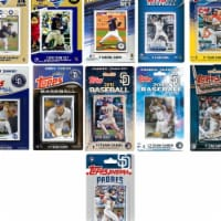 C&I Collectables PADRES1119TS MLB San Diego Padres 11 Different Licensed Trading Card Team Se - 1