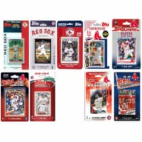 C&I Collectables REDSOX919TS MLB Boston Red Sox 9 Different Licensed Trading Card Team Sets - 1