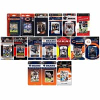 C&I Collectables BEARS1619TS NFL Chicago Bears 16 Different Licensed Trading Card Team Set