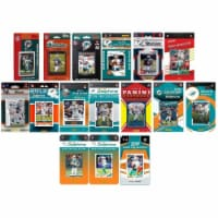 C&I Collectables DOLPHINS1619TS NHL Miami Dolphins 16 Different Licensed Trading Card Team Se - 1