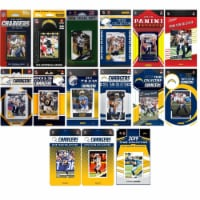 C&I Collectables CHARGERS1519TS NHL Los Angeles Chargers 15 Different Licensed Trading Card T - 1