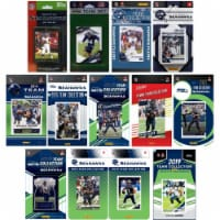 C&I Collectables SEAHAWKS1319TS NHL Seattle Seahawks 13 Different Licensed Trading Card Team