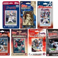 C&I Collectables BRAVES720TS MLB Atlanta Braves 7 Different Licensed Trading Card Team Set - 1