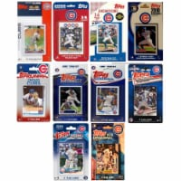 C&I Collectables CUBS920TS MLB Chicago Cubs 9 Different Licensed Trading Card Team Set - 1
