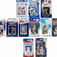 C&I Collectables DODGERS1020TS MLB Los Angeles Dodgers 10 Different Licensed Trading Card Tea - 1
