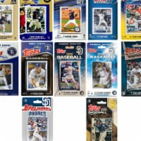 C&I Collectables PADRES1230TS MLB San Diego Padres 12 Different Licensed Trading Card Team Se - 1