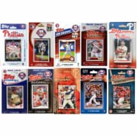 C&I Collectables PHILS1020TS MLB Philadelphia Phillies 10 Different Licensed Trading Card Tea