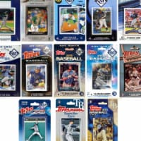 C&I Collectables RAYS1320TS MLB Tampa Bay Rays 13 Different Licensed Trading Card Team Set
