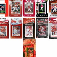 C&I Collectables REDS1120TS MLB Cincinnati Reds 11 Different Licensed Trading Card Team Set - 1