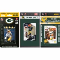 C & I Collectables PACKERS3TS NFL Green Bay Packers 3 Different Licensed Trading Card Team Se