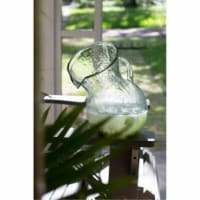 Large Glass Tilted Pitcher 8  X 12 T - 1