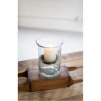 Mini Glass Candle Cylinders W Rustic Insert - Small 6  X 8 T - 1