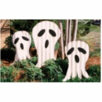 Set Of 3 Corrugated Ghosts Yard Art 39 T - 1