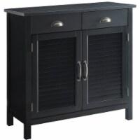 Belray Home Storage Accent Cabinet with Shutter Doors & Adjustable Shelf, Black - 1 Piece