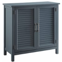 Belray Home Storage Accent Cabinet with Shutter Doors and Adjustable Shelf, Gray - 1 Piece