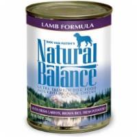 Natural Balance Pet Foods 723633001571 13oz Ultra Premium Lamb Formula Canned Dog Food-12pk