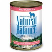 Natural Balance Pet Foods 723633001588 13oz Ultra Premium Beef Formula Canned Dog Food-12pk