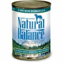 Natural Balance Pet Foods 723633001595 13 oz Ultra Premium Chicken Formula Canned Dog Food -
