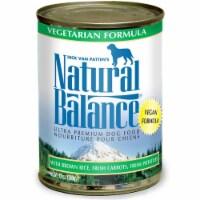 Natural Balance Pet Foods 723633065559 13 oz Vegetarian Formula Canned Dog Food - Case of 12