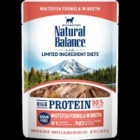 Natural Balance Pet Foods NA49301 2.5 oz LID High Protein Whitefish Formula in Broth Wet Cat