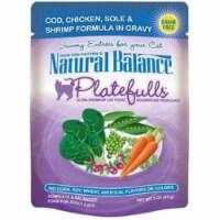 Natural Balance Pet Foods 723633531016 N Balance Platefulls Cod Chicken Sole & Shrimp-24pk