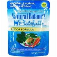 Natural Balance Pet Foods 723633531061 Platefulls Indoor Mackerel & Sardine-24pk - 24