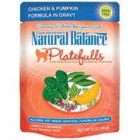 Natural Balance Pet Foods 723633540056 3oz Platefulls Chicken & Pumpkin Cat Food-24pk - 24
