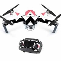 MightySkins DJMAVPRO-Black Pink Chevron Skin Decal Wrap for DJI Mavic Pro Quadcopter Drone Co