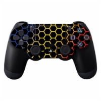MightySkins SOPS4CO-Primary Honeycomb Skin Decal Wrap for Dualshock PS4 Controller - Primary