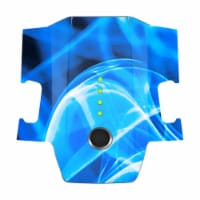 MightySkins DJMAVBAT-Blue Flames Skin Decal Wrap for DJI Mavic Pro Battery Sticker - Blue Fla - 1