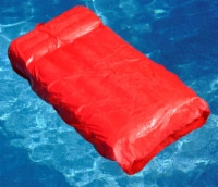 Swimline Solstice 15030R SunSoft Swimming Pool Inflatable Fabric Lounger, Red - 1 Unit