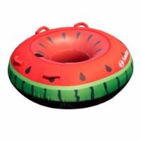 Swimline Watermelon Inflatable Single Rider Lake Ocean Water Towable Tube Float - 1 Unit