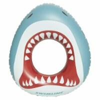 Swimline Inflatable Shark Mouth Swimming Pool Inner Tube Float Ring for Kids