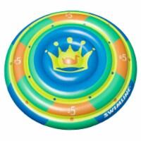 "Swimline 60"" Highroller Chip Island Round Inflatable 2 Rider Swimming Pool Float - 1 Unit"