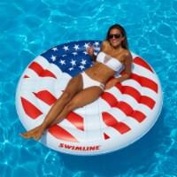 "Swimline 60"" Inflatable Americana Peace Island Float for Swimming Pool or Beach"