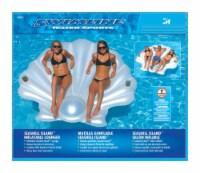 Swimline White Vinyl Inflatable Seashell Pool Float - Case Of: 1; - Count of: 1
